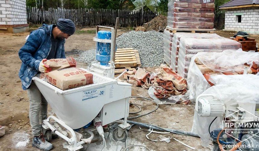 Механизированная штукатурка стен в коттедже 250 кв.м., п. Кашино 23
