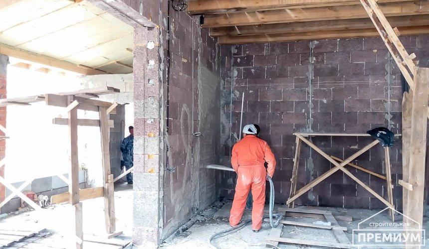 Механизированная штукатурка стен в коттедже 250 кв.м., п. Кашино 29
