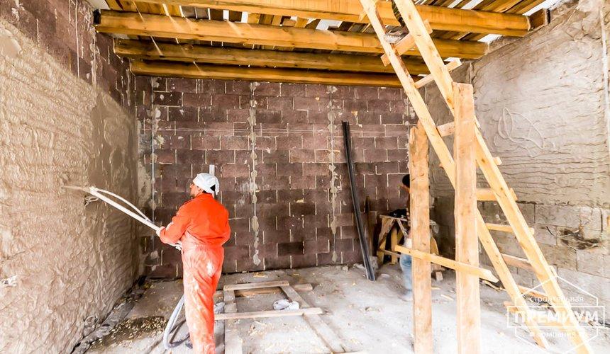 Механизированная штукатурка стен в коттедже 250 кв.м., п. Кашино 34