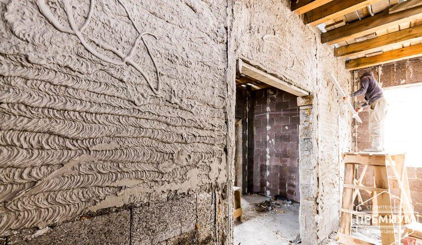 Механизированная штукатурка стен в коттедже 250 кв.м., п. Кашино 35