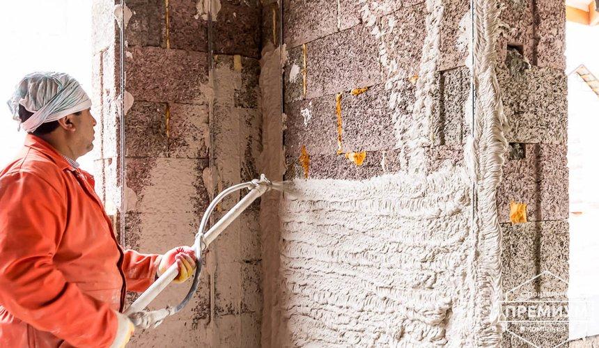 Механизированная штукатурка стен в коттедже 250 кв.м., п. Кашино 36