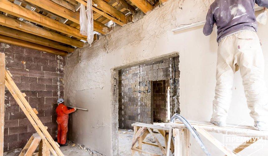 Механизированная штукатурка стен в коттедже 250 кв.м., п. Кашино 43