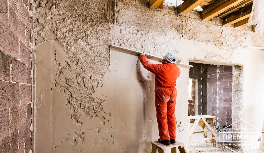 Механизированная штукатурка стен в коттедже 250 кв.м., п. Кашино 44