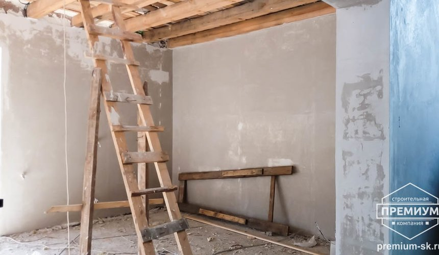 Механизированная штукатурка стен в коттедже 250 кв.м., п. Кашино 9