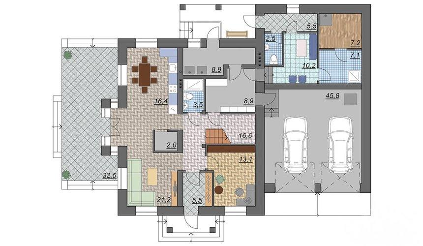 Индивидуальный проект дома 330 м2 в КП Косулино 4