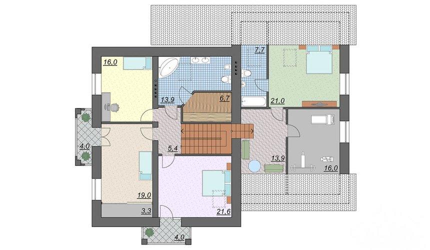 Индивидуальный проект дома 330 м2 в КП Косулино 5