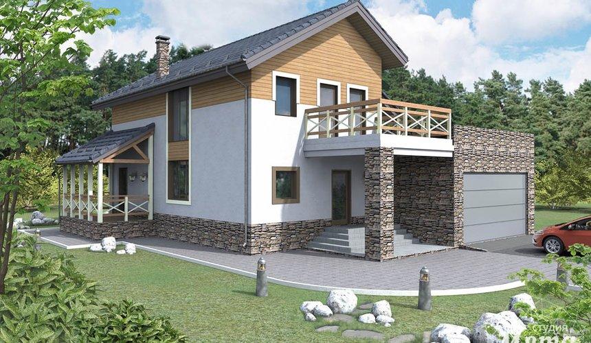 Дизайн проект фасада коттеджа 205 м2 в г. Нижневартовск 1