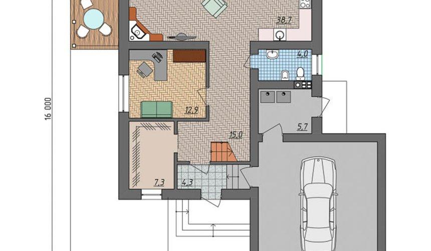 Индивидуальный проект дома 220 м2 в КП Образцово 5