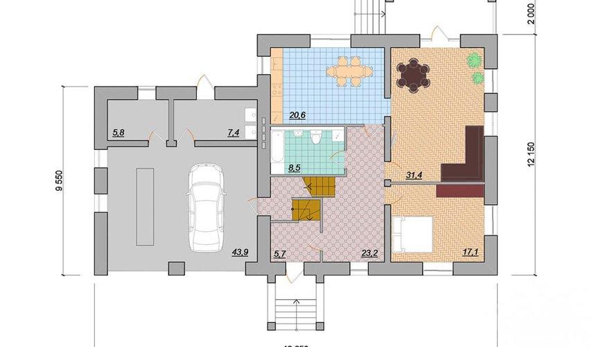 Индивидуальный проект дома 330 м2 в г. Когалым 4
