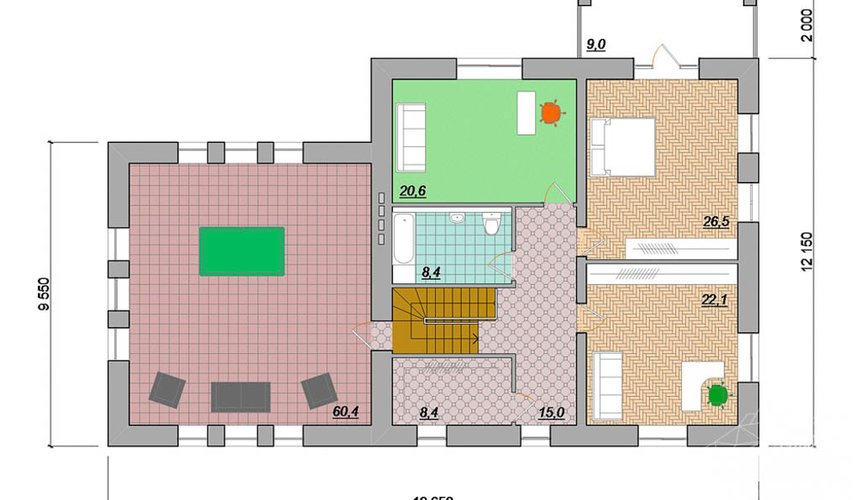 Индивидуальный проект дома 330 м2 в г. Когалым 5