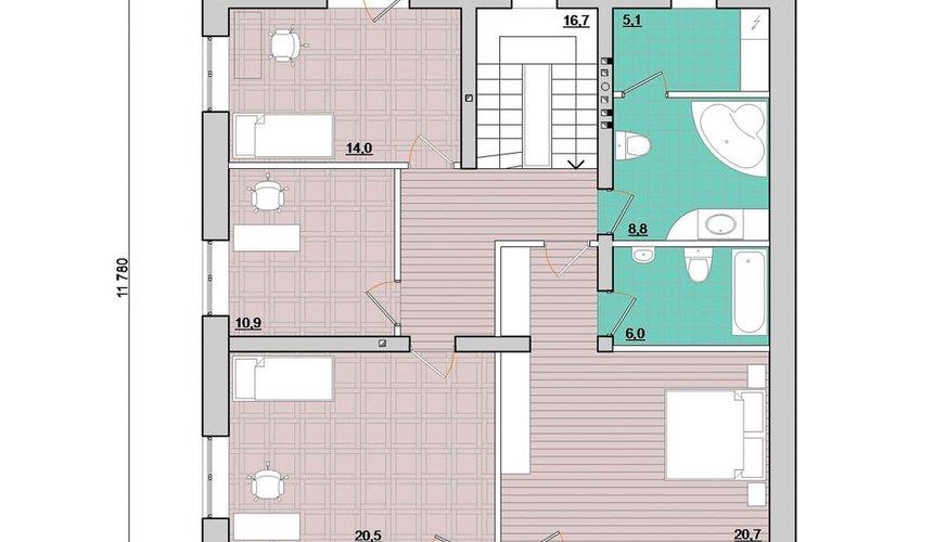 Индивидуальный проект дома 200 м2 в Краснодаре 5