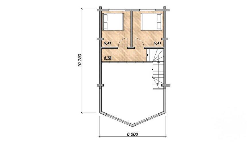Индивидуальный проект дома 165 м2 в г. Нефтеюганск 5