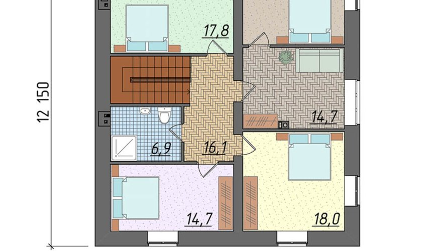 Индивидуальный проект дома 270 м2 в КП Заповедник 4