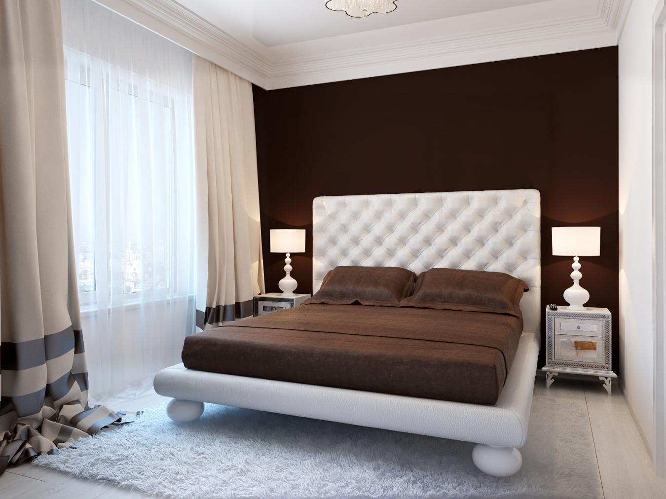 паз спальня в бело коричневых тонах фото уральская
