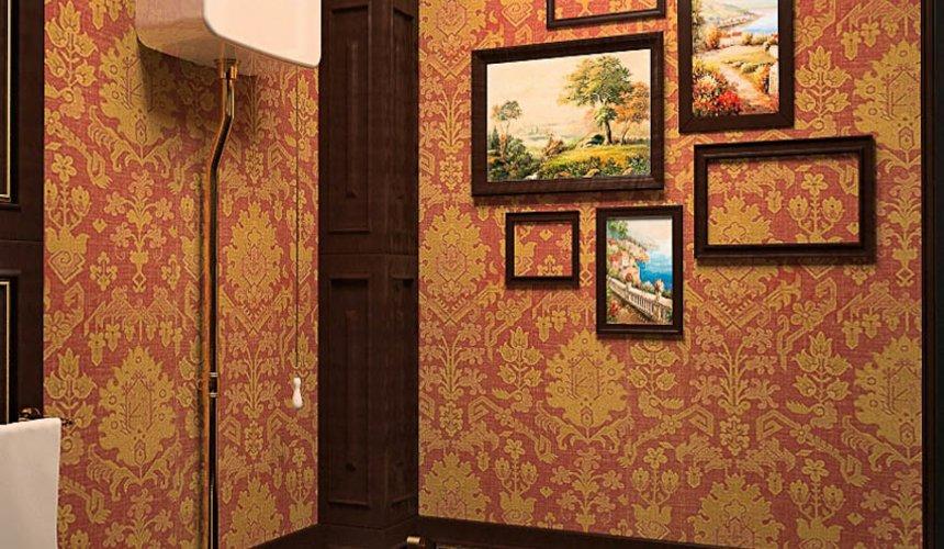 Дизайн интерьера первого этажа коттеджа Красное золото 16