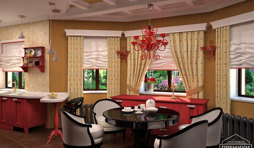 Дизайн интерьера первого этажа коттеджа Красное золото 14