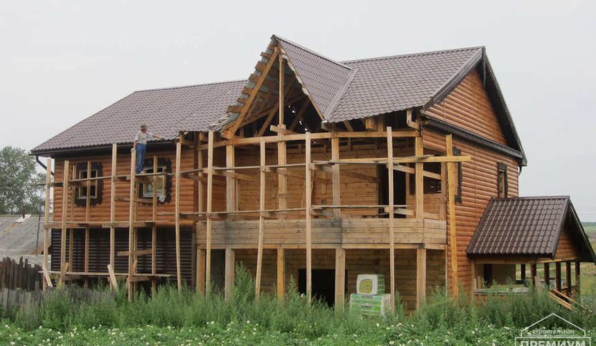 Проектирование и строительство дома из бруса в д. Рябиновка 12
