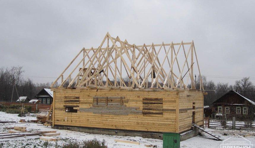 Строительство дома из бруса в д. Рябиновка 2 7