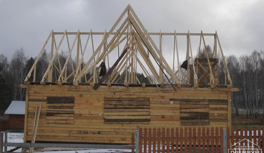Строительство дома из бруса в д. Рябиновка 2 10