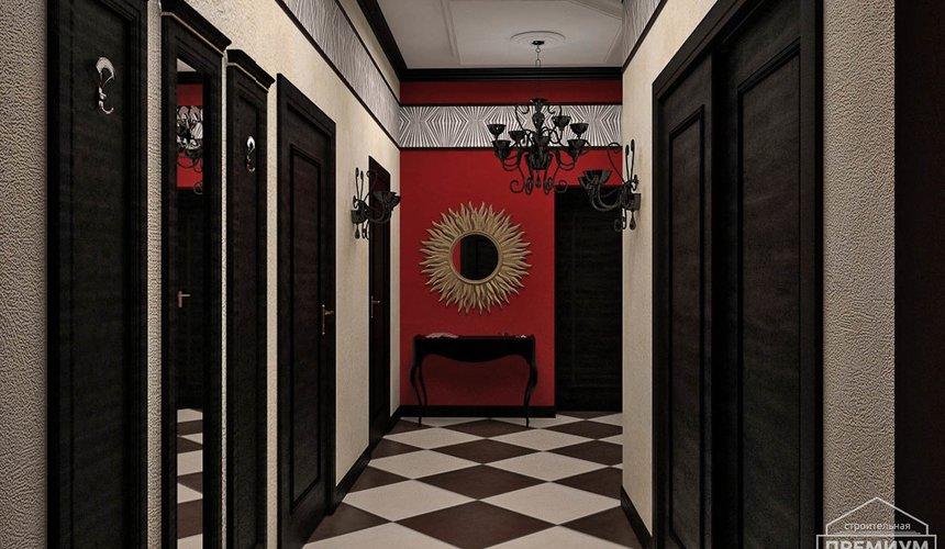Дизайн интерьера первого этажа коттеджа Красное золото 19