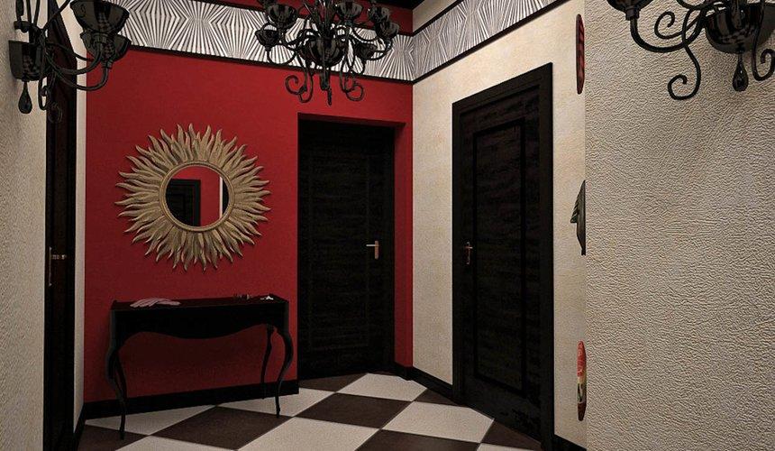 Дизайн интерьера первого этажа коттеджа Красное золото 20