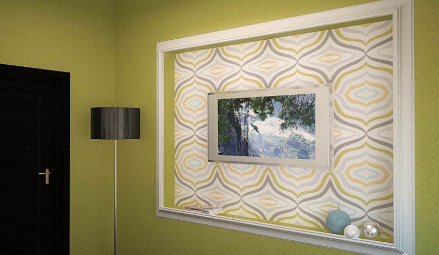 Дизайн интерьера первого этажа коттеджа Красное золото 22