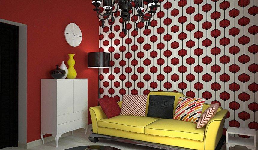 Дизайн интерьера первого этажа коттеджа Красное золото 26