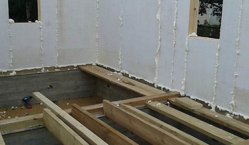 Строительство коттеджа из каркаса в п. Исток 44