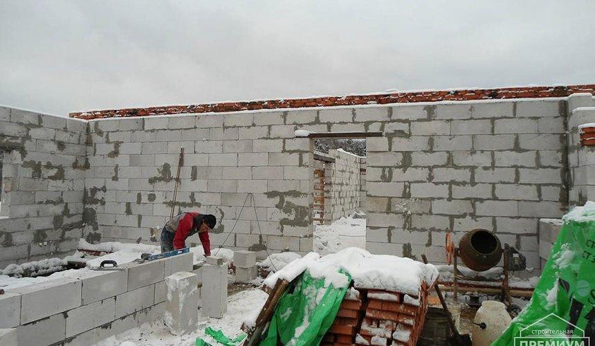 Строительство коттеджа из блоков в р-н Кольцово 12