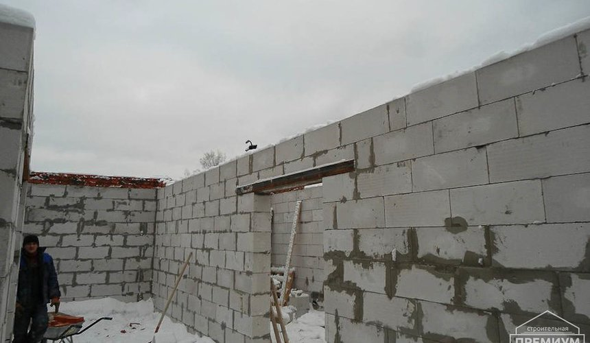 Строительство коттеджа из блоков в р-н Кольцово 13