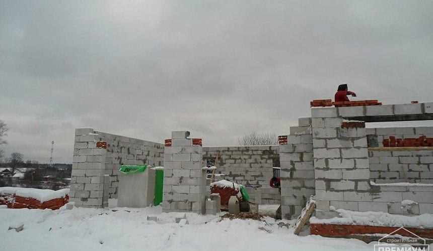 Строительство коттеджа из блоков в р-н Кольцово 16