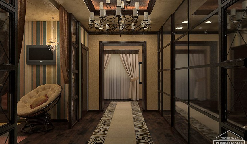 Дизайн интерьера третьего этажа коттеджа Шафран 14