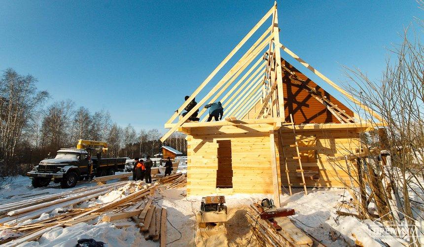 Строительство дома из бруса в п. Исток 12