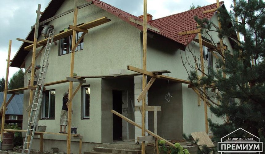 Проектирование и строительство коттеджа из блоков в п. Старопышминский 3