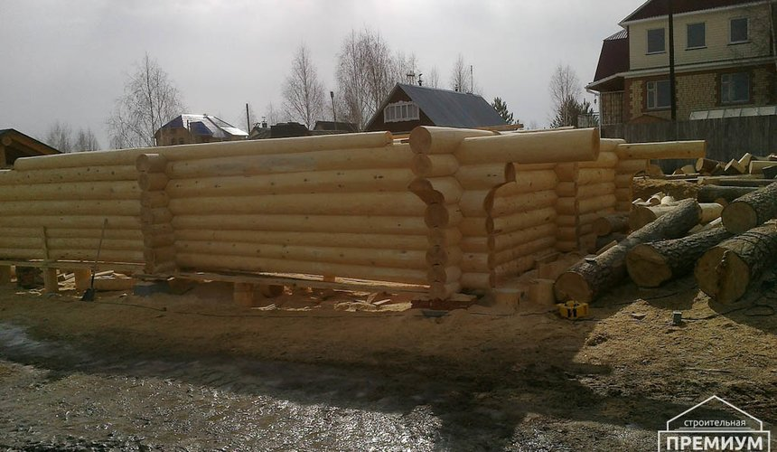 Строительство дома из бревна в Балтыме 1