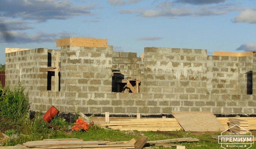 Строительство коттеджа из бризолита в Горном щите 16