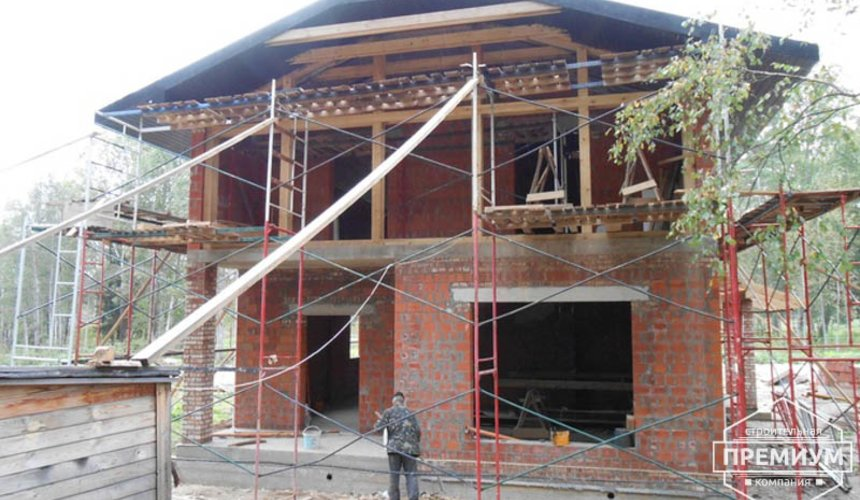 Строительство дома из кирпича в п.Сысерть 126