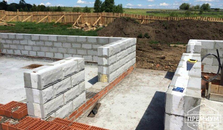 Строительство дома из блоков в коттеджном посёлке Алые паруса 36