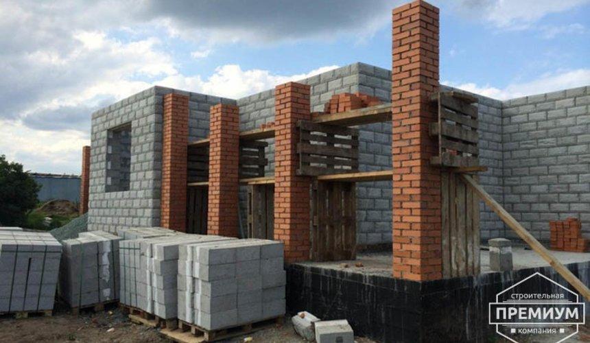 Строительство дома из блоков в коттеджном посёлке Алые паруса 45