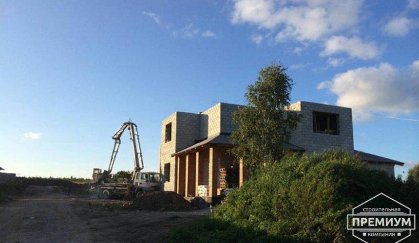 Строительство дома из блоков в коттеджном посёлке Алые паруса 57