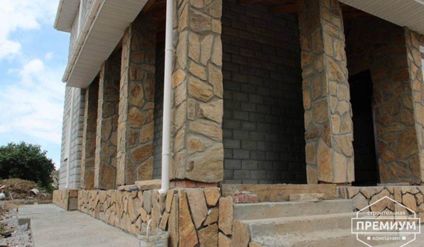 Строительство дома из блоков в коттеджном посёлке Алые паруса 2