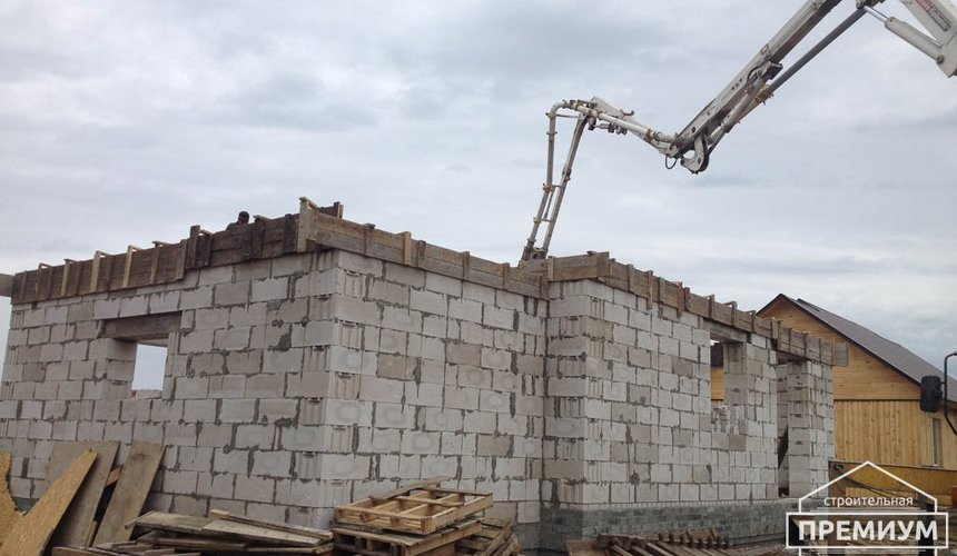 Строительство дома из блоков в с.Курганово 53