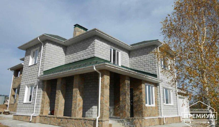 Строительство дома из блоков в коттеджном посёлке Алые паруса 5