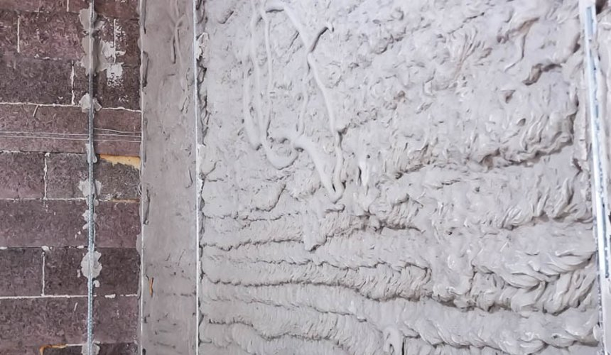 Механизированная штукатурка стен в коттедже 250 кв.м., п. Кашино 26