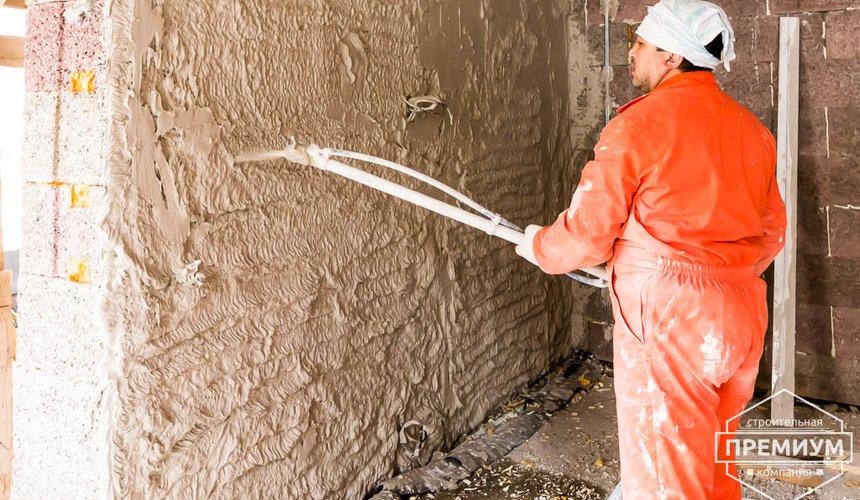 Механизированная штукатурка стен в коттедже 250 кв.м., п. Кашино 33