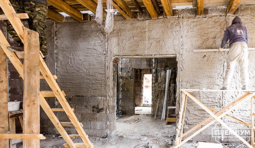 Механизированная штукатурка стен в коттедже 250 кв.м., п. Кашино 41
