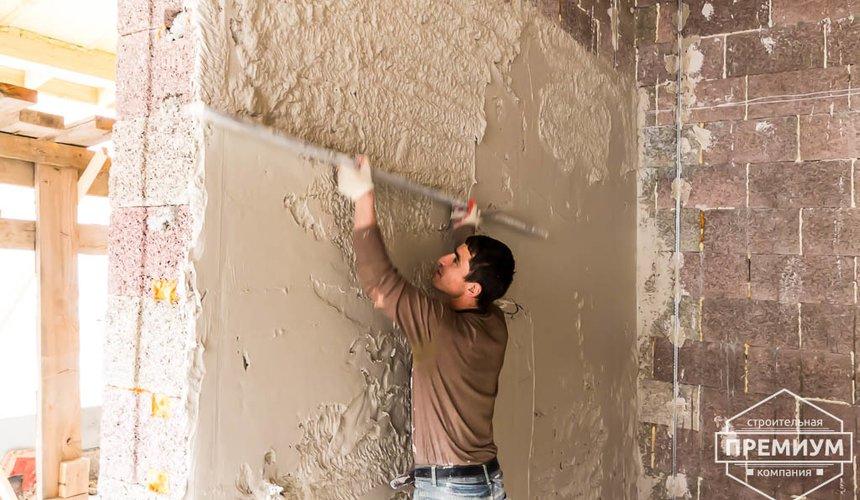 Механизированная штукатурка стен в коттедже 250 кв.м., п. Кашино 42