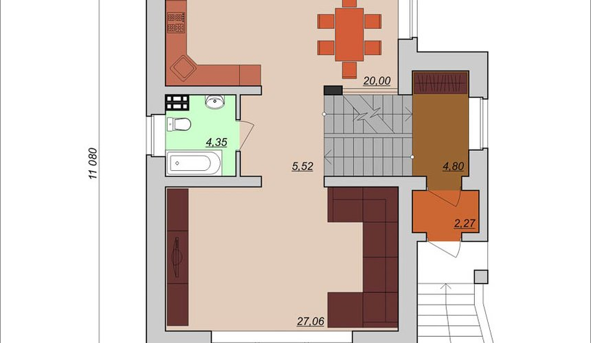 Индивидуальный проект дома 200м2 в КП Палникс 4