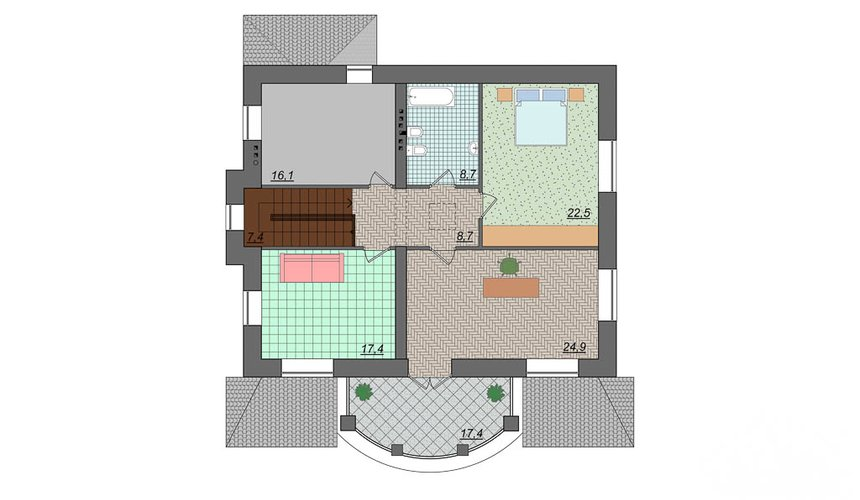 Индивидуальный проект дома 314 м2 в Сысерти 5
