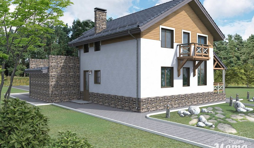 Дизайн проект фасада коттеджа 205 м2 в г. Нижневартовск 2